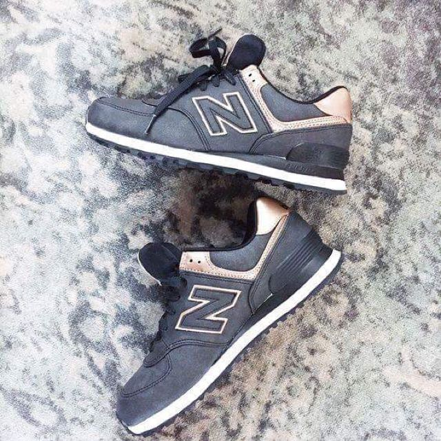 Rose Gold & Charcoal New Balance Sneakers