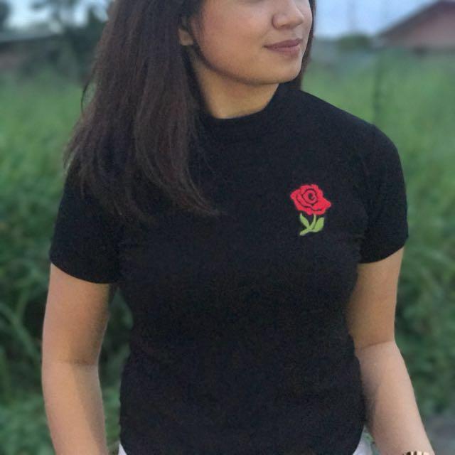Rose Turtleneck in Black