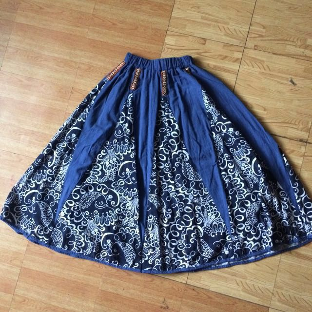 SALE! Denim Blue Midi Skirt