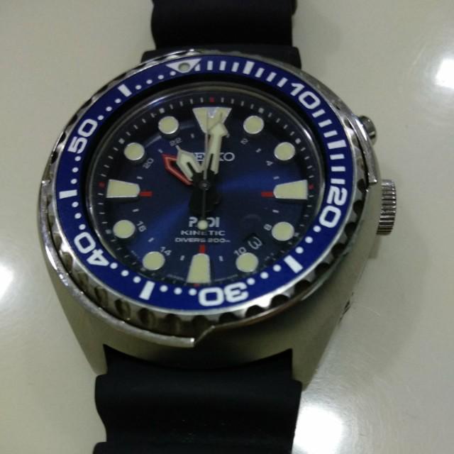 Seiko Sun065 Prospex Kinetic Gmt Diver Watch Men S Fashion Watches