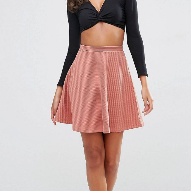 Size 16 Dusty Pink/Coral Skater Skirt