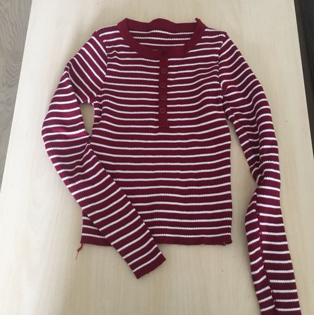 Striped Knitted Top