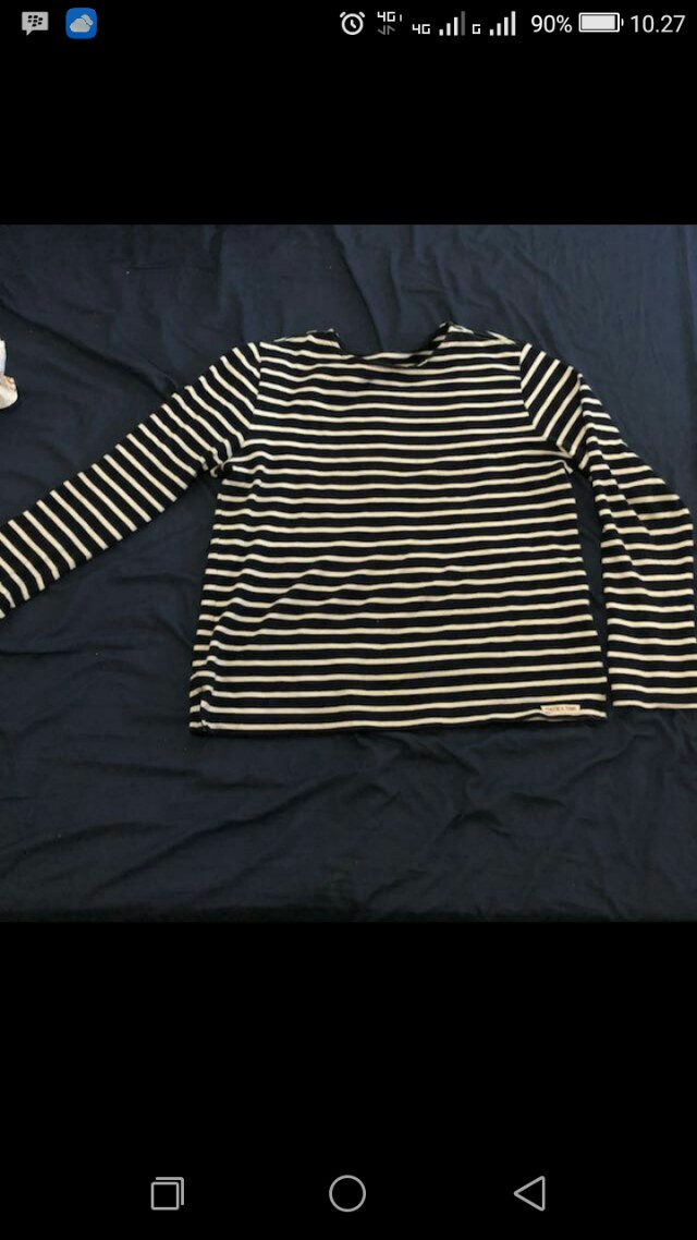 Stripes T-shirt biru putih
