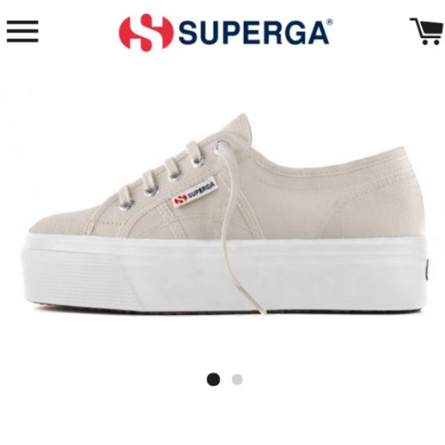 a313ff2dc767 Superga Flatform Grey Seashell
