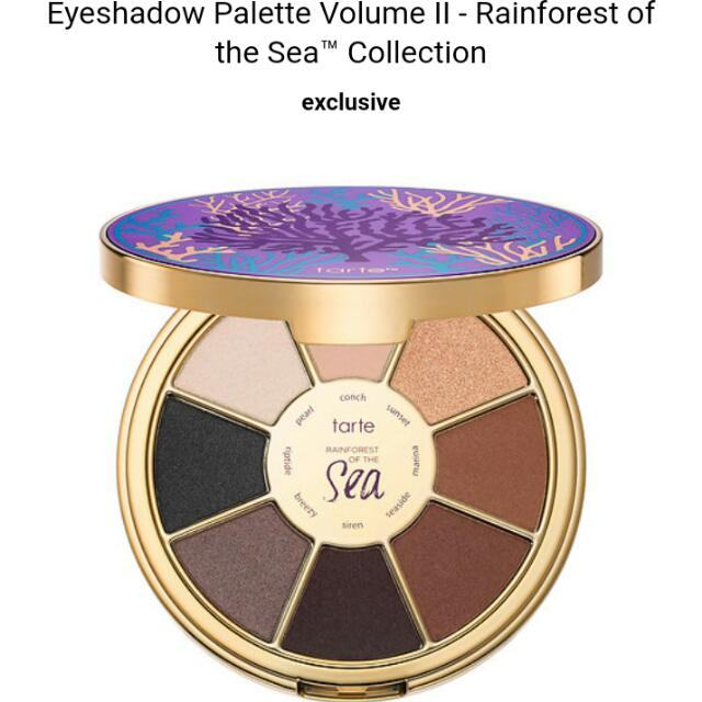 BRAND NEW Tarte- Rainforest Of The Sea Vol 2 Eyeshadow Palette