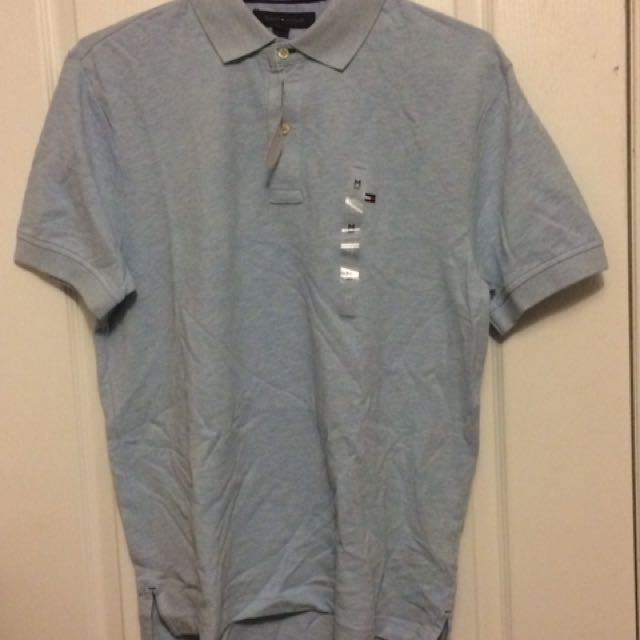 Tommy Hilfiger Baby Blue Golf Shirt - Medium