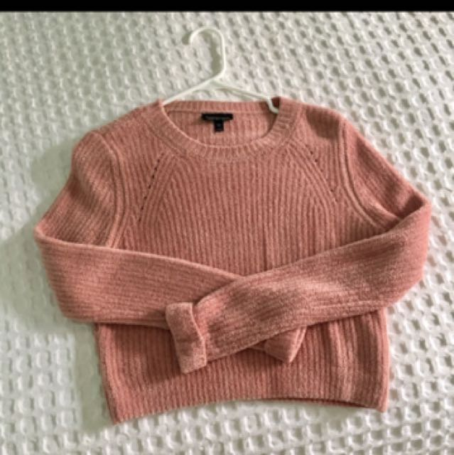 Top shop cropped pink sweater