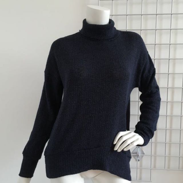 Top shop navy turtleneck sweater