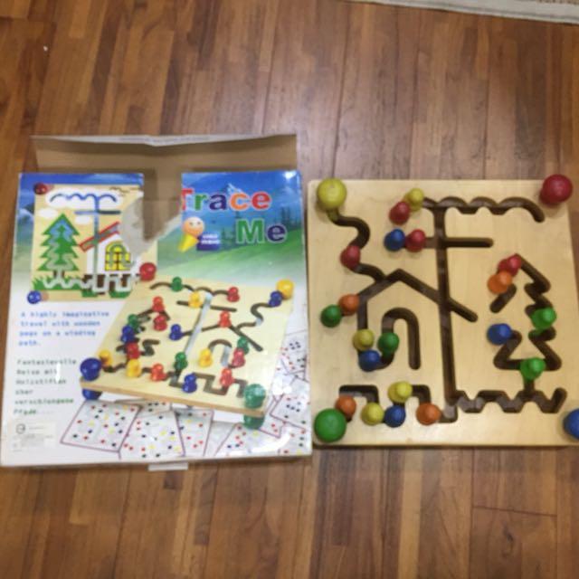 Trace me手眼協調教具 3歲以上木質教具 益智玩具兒童教具