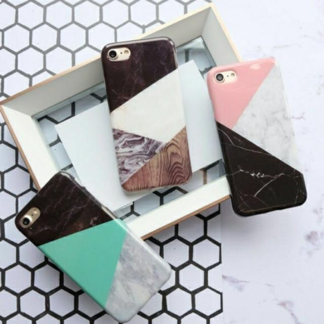 Triangle Marble Case Full Cover Iphone