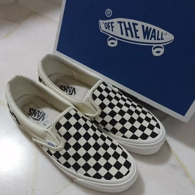 9fe91b347302 VANS Vault OG Classic Checkerboard Slip-On  Black White