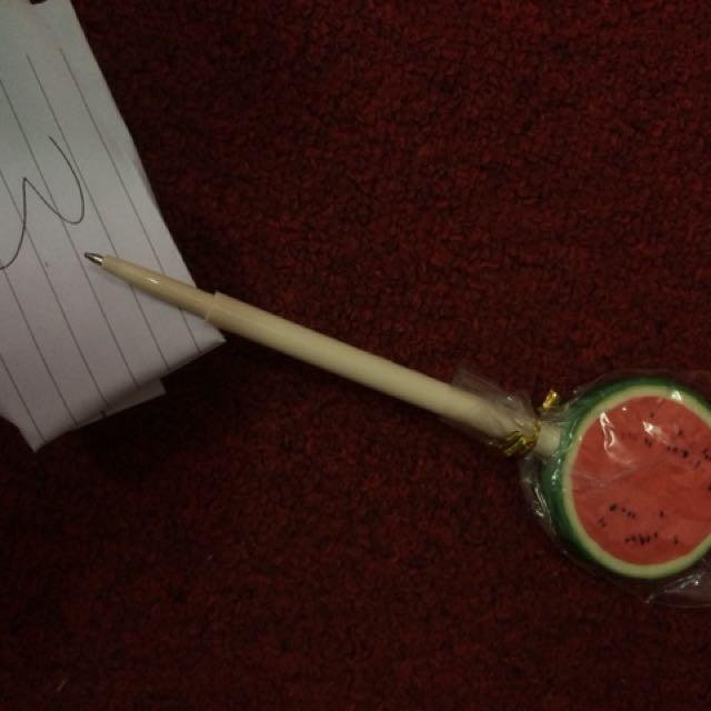Watermelon Black Ballpen