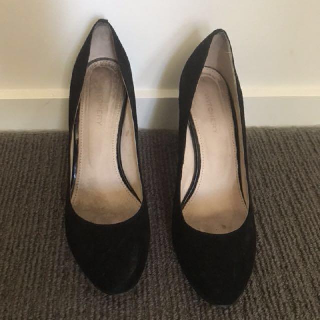 Witchery black block heel