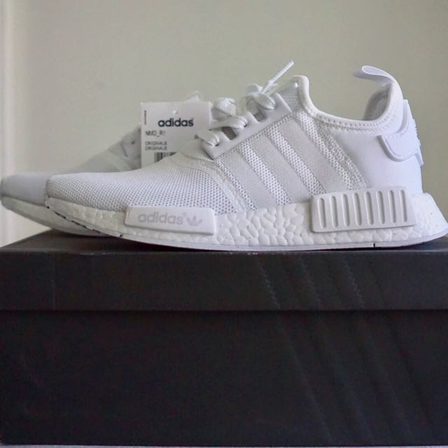 Women Us 7 5 Adidas Nmd R1 Triple White Women S Fashion