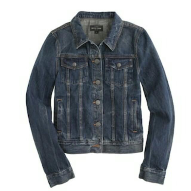 XS J Crew Vintage Denim Jacket