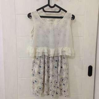 MINEOLA WHITE FLORAL DRESS