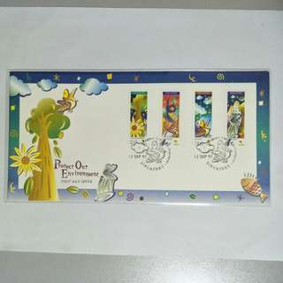 S'pore FDC - 1997 Protect environment