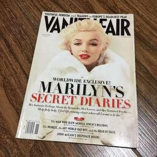 MARILYN MONROE Vanity Fair