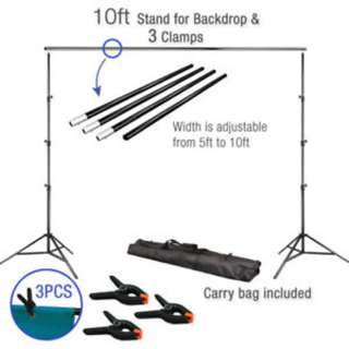 Readystock 10 Adjustable Background Support Stand Photo Backdrop Crossbar Kit Photography