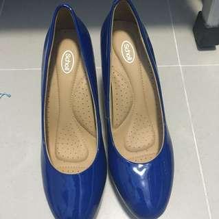 Scholl Shoes heels royal blue size 4