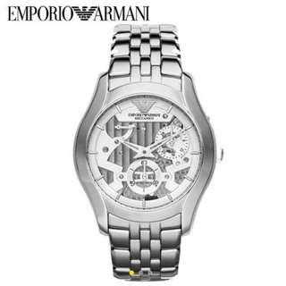 Emporio Armani Men Meccanico Stainless Steel Auto Watch 男裝鋼帶錶  機械錶 AR4676