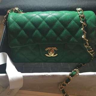 Chanel cavier mini green
