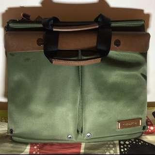 Calvin Klein 軍綠 手提 側背 公司包款
