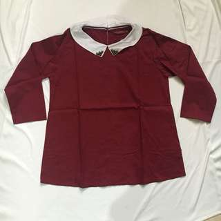 Maroon top by hush puppies