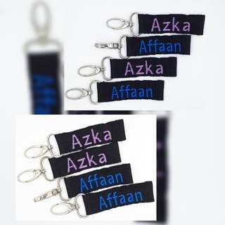 Multipurpose Name Tag with Embroidery