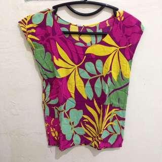 Baju Bali Motif Daun
