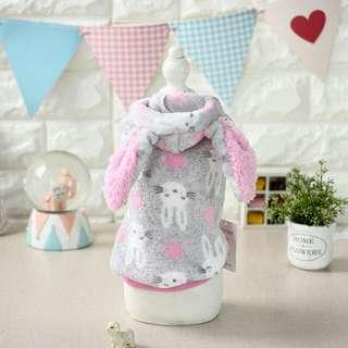 🚚 寵物衣服 貓衣服狗衣服 兩腳變身裝 兔子變身衣 珊瑚絨秋冬保暖