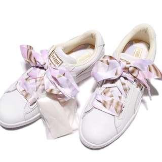 Puma Basket Heart 新款皮革蝴蝶結鞋