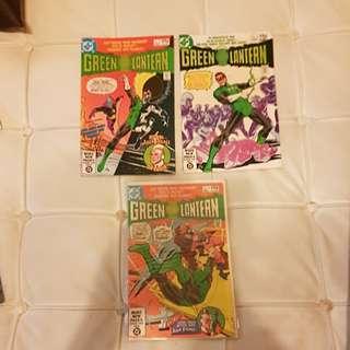 (A012) 3 DC Comics GREEN LANTERN (1981)