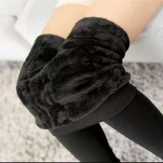 🚚 黑色加絨內搭褲