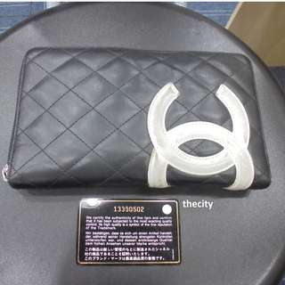 AUTHENTIC CHANEL CAMBON ZIP WALLET ORGANIZER