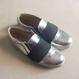 Metalic Slip On Shoes (DNC)
