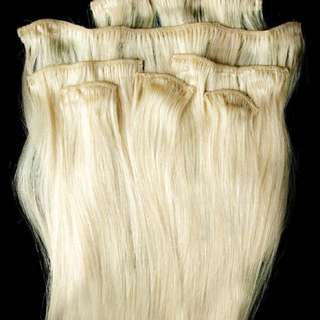 22 inch real human hair extensions blond