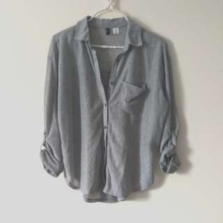 Semi sheer grey blouse