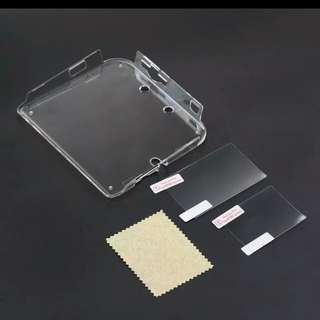 2DS Transparent Case + 2x Screen Protector