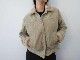 Corduroy nude jacket