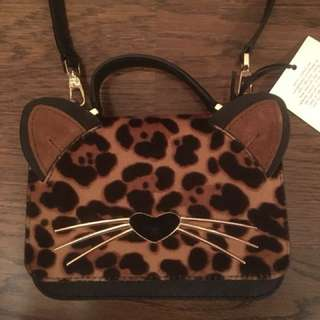 """Limited Edition Kate Spade leopard print """"Kitty"""" bag"""