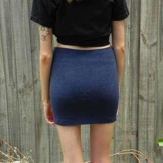 Deep blue body con skirt