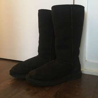 *LIKE NEW* Size 8 Black UGGS - tall