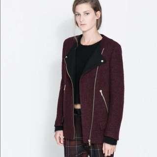 Burgundy Zara Jacket