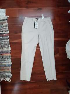 M zara beige dress pants