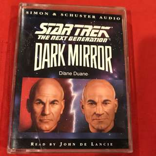 Star Trek TNG Dark Mirror Audio Book Cassette Tape