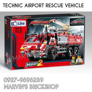 For Sale TECHNIC Airport Rescue Vehicle Building Blocks Toy