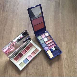 🚚 Clinique lip & eye palette and the Color workshop eyeshadow and blusher palette