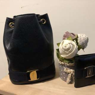 Salvatore Ferragamo back pack with wallet