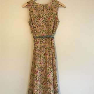 Beautiful Cotton Fab India lined sun dress